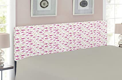 Amazon.com - Ambesonne Flower Headboard for King Size Bed ...
