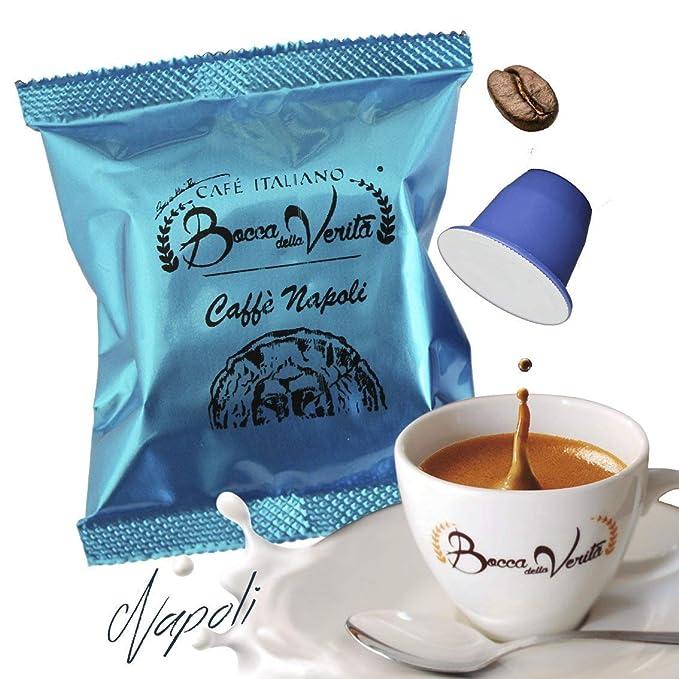 Café cápsula Espresso NAPOLI Nespresso compatible | 100 Cápsulas Bocca Della Verità | Café Italiano de