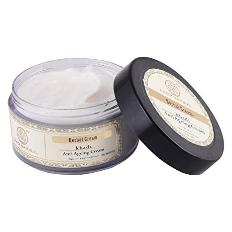 Health & Beauty Khadi Natural Herbal Anti Ageing Wrinkles Cream For Younger Looking Skin 50 Gm Anti-aging Products
