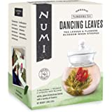 Numi Organic Tea Dancing Leaves Flowering Tea Gift Set, 5 Tea Blossoms with 16 Ounce Glass Teapot (Packaging May Vary)