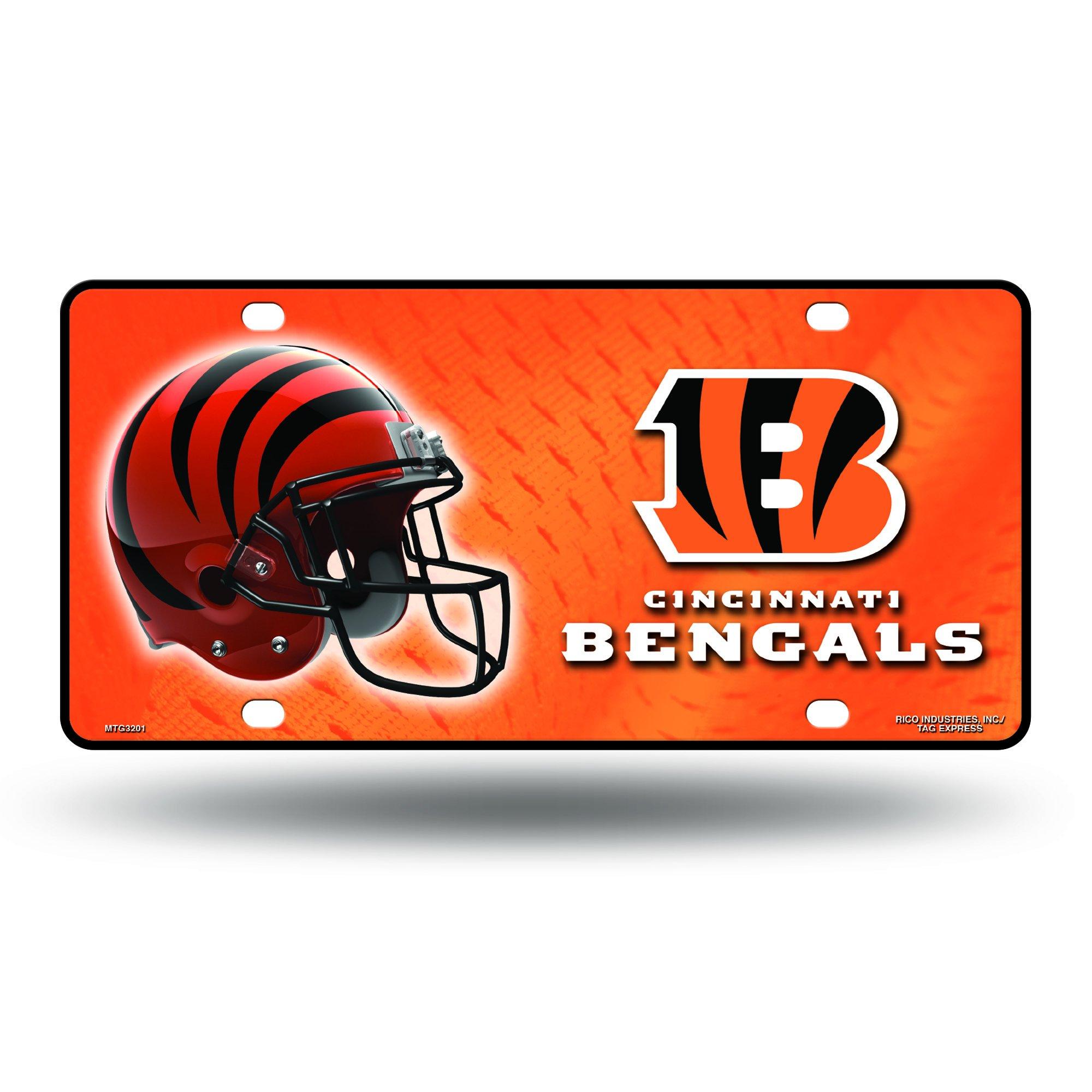 NFL Cincinnati Bengals Metal License Plate Tag
