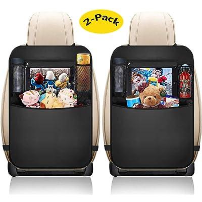 2-Pack Car Seat Organizer - Kick Mats Seat Organizer Backseat Organizer Storage Car Organizer Back Seat Waterproof Kick Mat Car Seat Protector: Home Improvement