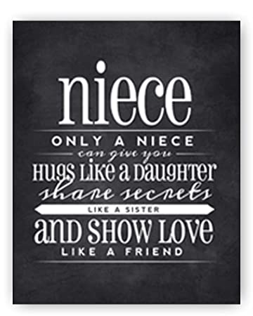 Amazoncom Niece Gift Niece Quote Sign Niece Quote Chalkboard