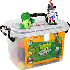 New Plants vs. Zombies Action Figure Doll Model Anime Figurines PVZ Shooting Toy Storage Box Battle Map Christmas Birthday Gift