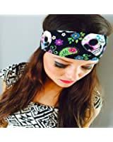 Sugar Skulls. Headbands By Hippie Runner. The #1 Choice For Athletes! No Slip, No Drip Headbands For Running, Walking, Exercise Or Fashion!