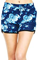 VIV Collection Women's Printed Brushed Casual Summer Shorts