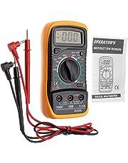 JZK XL830L multímetro digital, retroiluminación LCD, instrumento medición corriente, voltímetro AC/DC