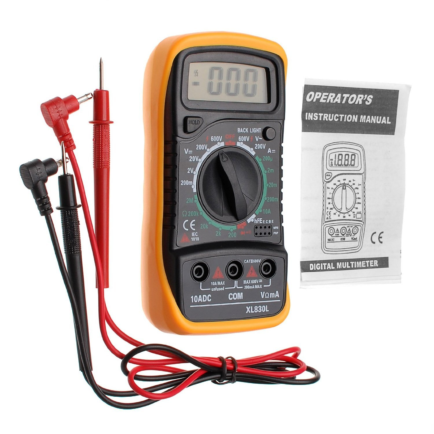 Best Rated In Multi Testers Helpful Customer Reviews Breaker Panel Wiring Likewise Military Time Clock On Can Light Jzk Xl830l Digital Multimeter Voltmeter Ammeter Ohm Ac Dc Rods With Diode