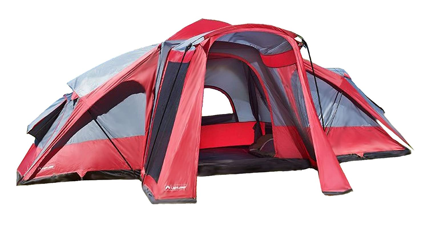 Amazon.com  Lightspeed Outdoors 3-Room Compound 8-Person Instant Tent Red  Family Tents  Sports u0026 Outdoors  sc 1 st  Amazon.com & Amazon.com : Lightspeed Outdoors 3-Room Compound 8-Person Instant ...