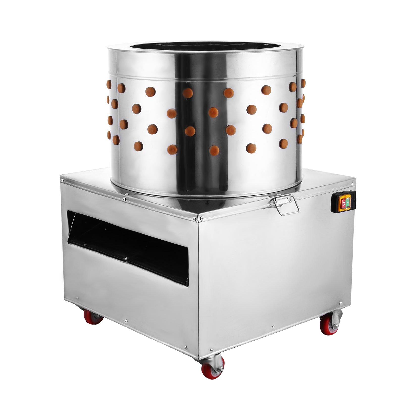 VEVOR Stainless Steel Chicken Plucker Turkey Poultry Defeather Plucking Machine 23.5Inch, 2200W 240R/Min by VEVOR
