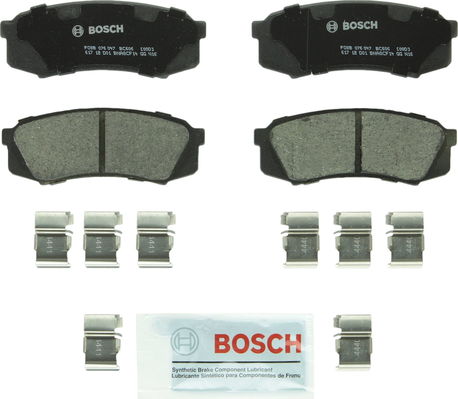 Bosch BC606 QuietCast Premium Ceramic Rear Disc Brake Pad Set by Bosch