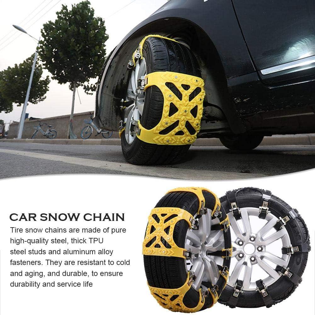 Universal Schneeketten Winter Auto Schneereifen Ketten TPU Stahl Nagel Anti Skid Auto Schneekette Gel/ändewagen SUV Car Snow Tire Chain