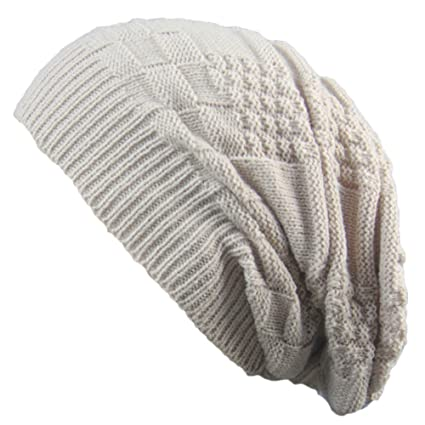 0d28ab76601 Image Unavailable. Image not available for. Color  Clearance! Men Women  Knit Baggy Beanie Oversize Winter Hat Ski Slouchy ...