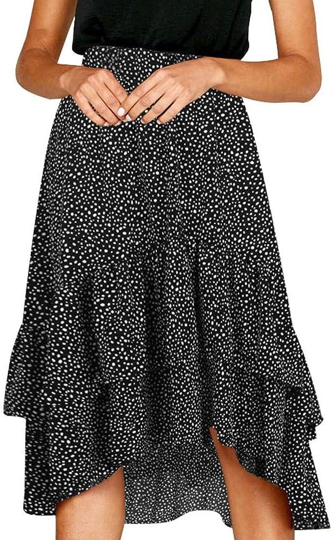iHAZA - Falda para Mujer, Estilo Informal Negro L: Amazon.es: Ropa ...