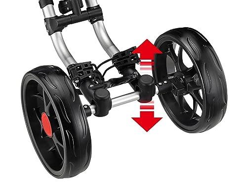 CaddyTek One-Click Folding 4 Wheel Golf Push Cart