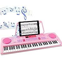 WOSTOO Electric Keyboard Piano for Kids-Portable 61 Key Electronic Musical Karaoke Keyboard, Learning Keyboard for…