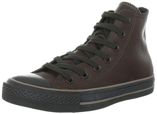 3fb05d348bd Converse Chuck Taylor All Star Leather Chocolate 132097C - Zapatillas  fashion de cuero unisex