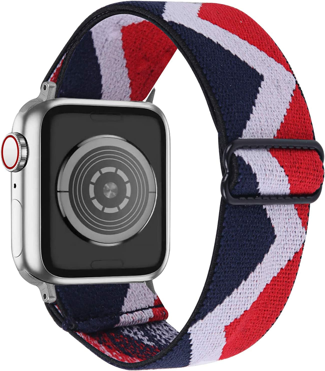 OULUCCI Stretchy Loop Strap Compatible for Apple Watch Bands 40mm 38mm iWatch SE & Series 6/5/4/3/2/1 Stretch Elastics Wristbelt