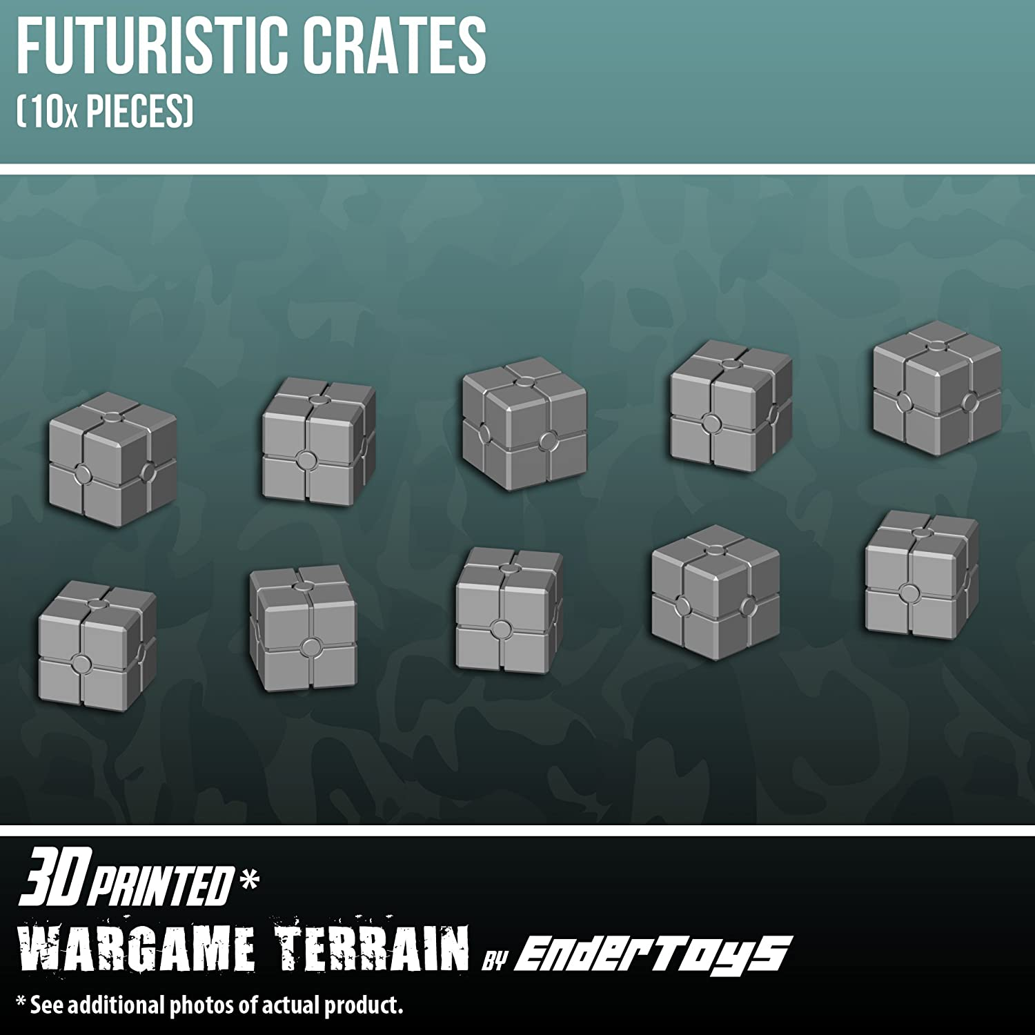 Futuristic Crates, Terrain Scenery for Tabletop 28mm Miniatures ...