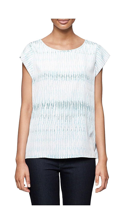 Calvin Klein Jeans Women's Short Sleeve Round Neck Keyhole Back Cloud Blue S Top