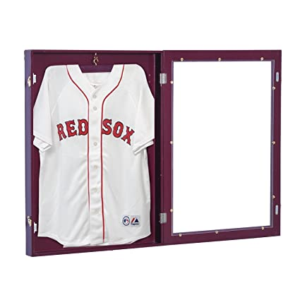 HOMCOM Jersey Frame Display Case Football Baseball Basketball Shirt ...