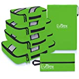 Packing Cubes | Travel Packing Cubes, 4pc Set | Packing Cubes for Travel |Luggage (Green)