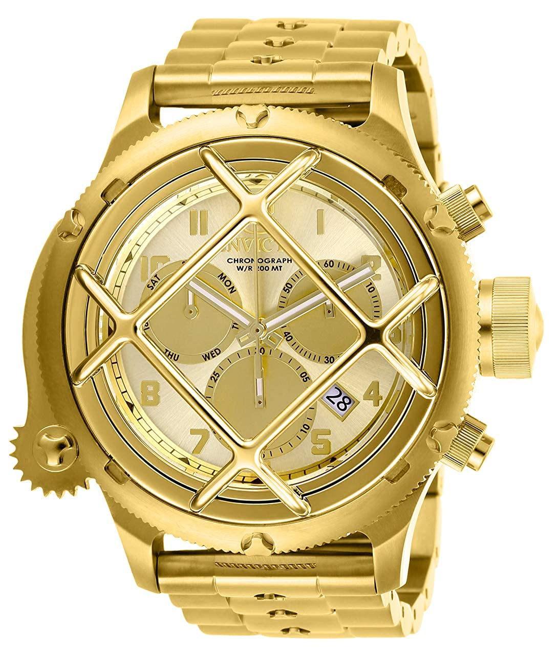 Invicta Men s Russian Diver Quartz Stainless-Steel Strap, Gold, 21 Casual Watch Model 26463