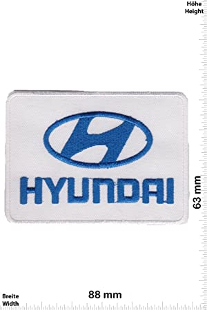 Patch Hyundai Blue Motorsport Racing Car Team Patches Iron On Patch Emblems Auto