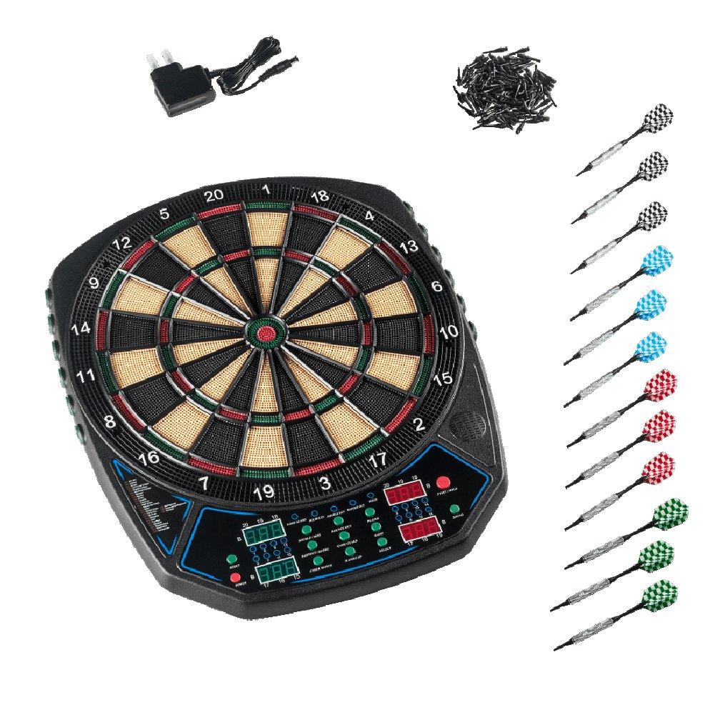 Elektronisches Dart Set Fur Bis Zu 16 Spieler 27 Spiele Mit 159 Variationen Inkl 12 Kompletten Dartpfeilen 100 Ersatzspitzen Dartboard Dartscheibe