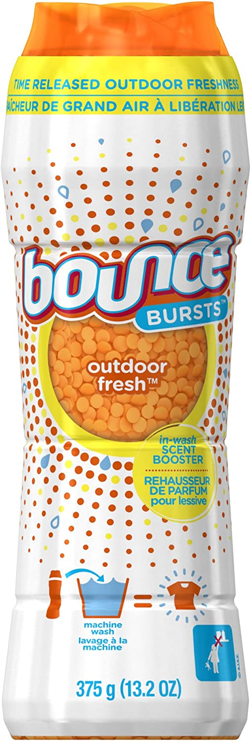 Bounce Burst In-Wash Scent Booster, Outdoor Fresh Scent, 13.2 Ounce - Packaging May Vary