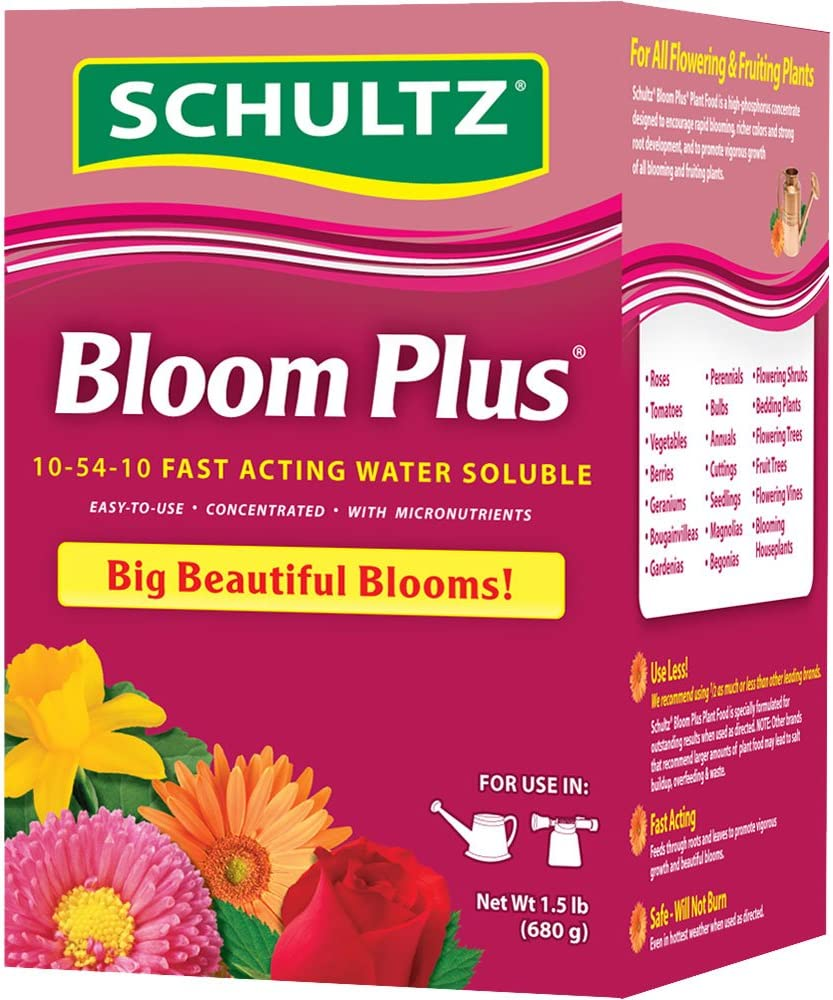 Schultz Bloom Plus Water Soluble Plant Food 10-54-10, 1.5-Pound