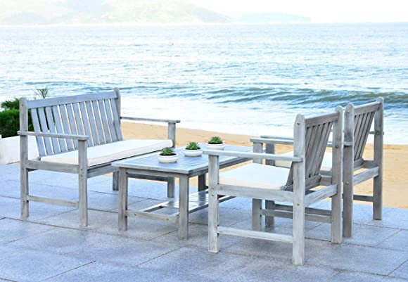 Safavieh 4-Piece Outdoor Collection Burbank Patio Set