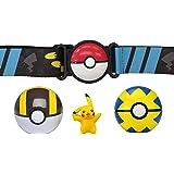 Pokemon Clip 'N' Go Poké Ball Belt Set, Wave 5 Ultra Ball, Quick Ball, and 2-Inch Pikachu - Feat. Detailed Pikachu Figure, a