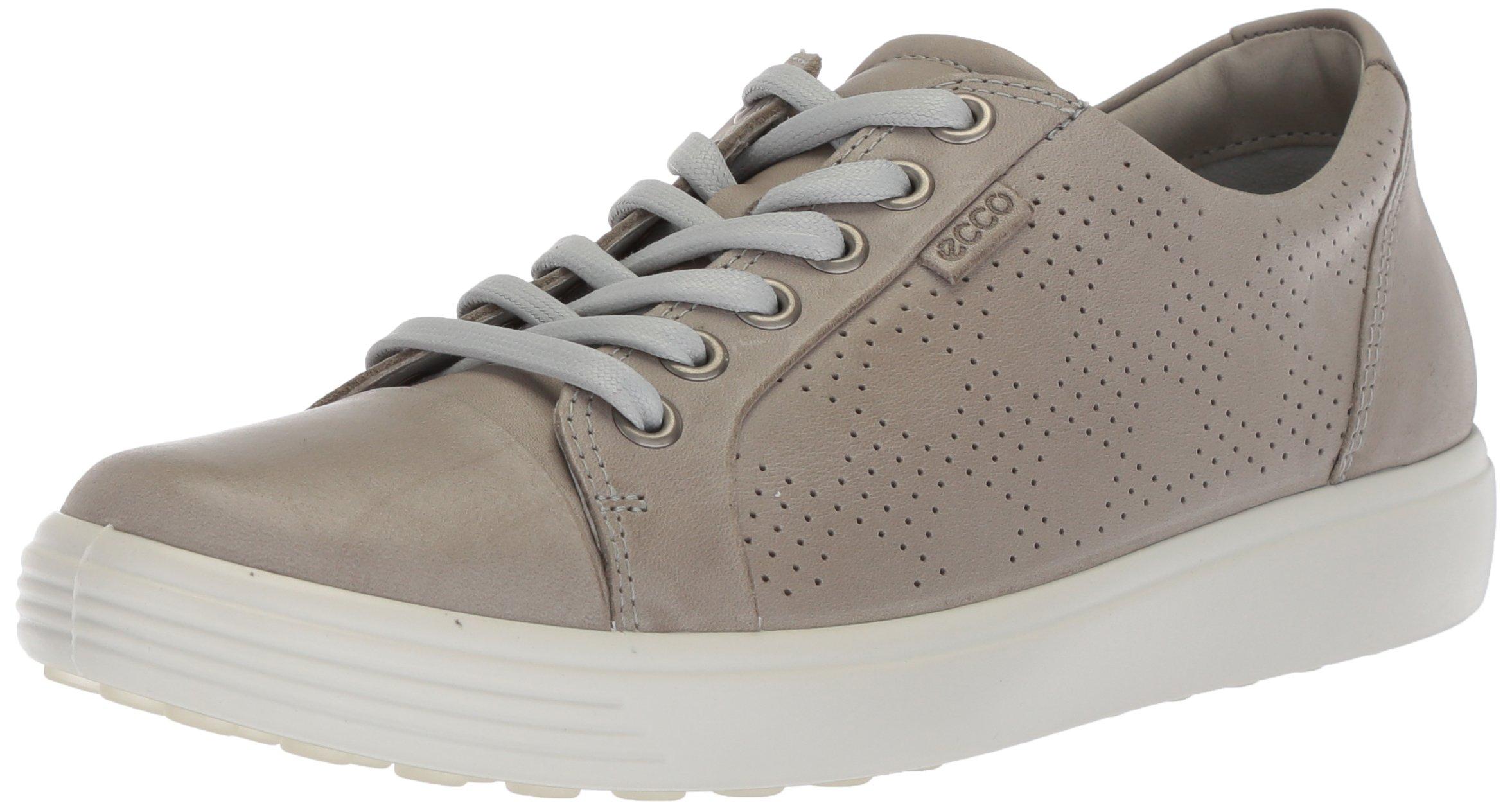 ECCO Women's Women's Soft 7 Fashion Sneaker, Wild Dove Perforated, 40 M EU (9-9.5 US)