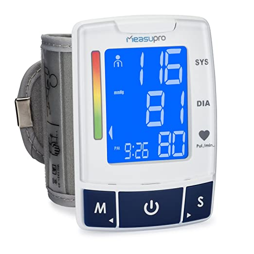 68 opinioni per MeasuPro EasyRead Automatic Digital Wrist Blood Pressure Monitor with Heart Rate