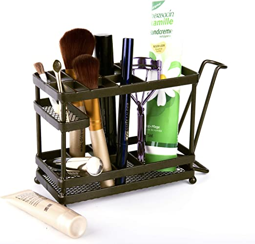 Oil Rubbed Bronze Toothbrush Holder Bathroom Countertop Stand Storage Organizer