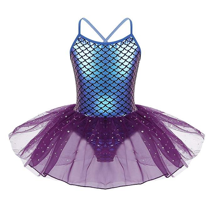 CHICTRY Disfraz de Sirena para niña, Vestido de Ballet, Princesa ...