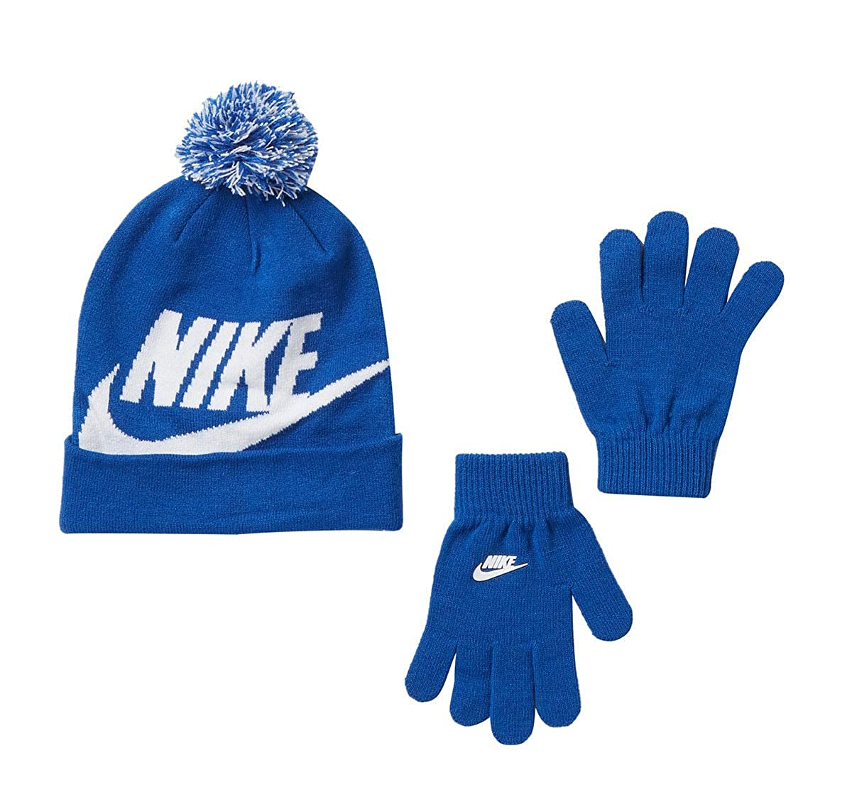 1577dd1771b Amazon.com  Nike Snow Stripe Set (Little Kids Big Kids) Black Blue Glow   Sports   Outdoors