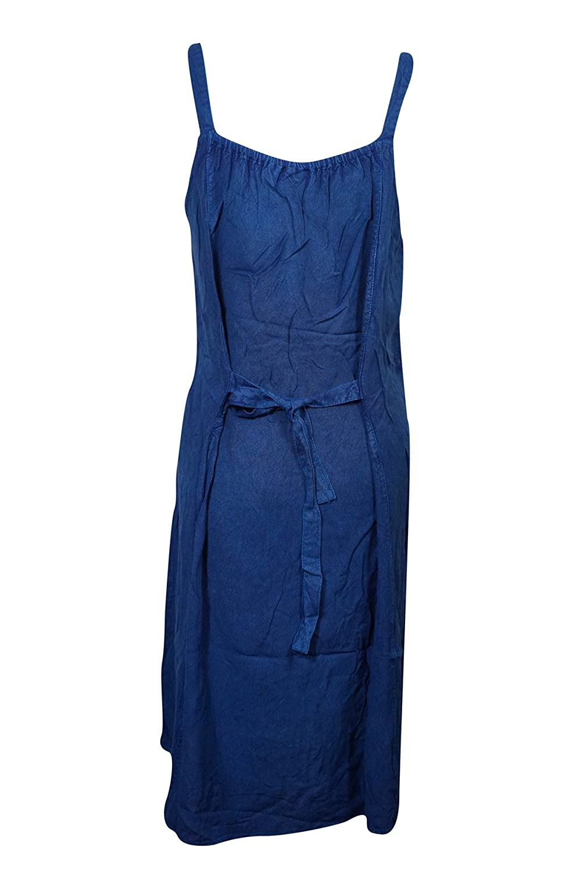22039195ebf Mogul Womens Shift Tank Dress Blue Stonewashed Tie Back Bohemian Hippie Chic  Dresses  Amazon.ca  Clothing   Accessories