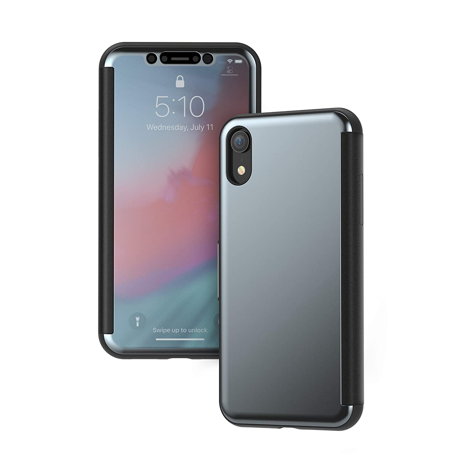 wholesale dealer 4e6a8 c0a08 Moshi StealthCover Portfolio Case Compatible with iPhone XR, Wireless  Charging, Screen Protector (Black)