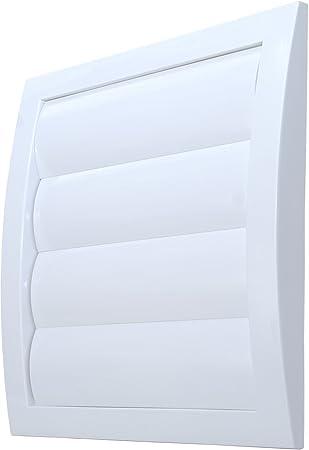 L3 rejilla de ventilación diámetro de 150 mm con láminas pesadas y rejilla antinsectos plástico ABS resistente a la intemperie láminas móviles rejilla de ventilación de campana extractora: Amazon.es: Bricolaje y herramientas