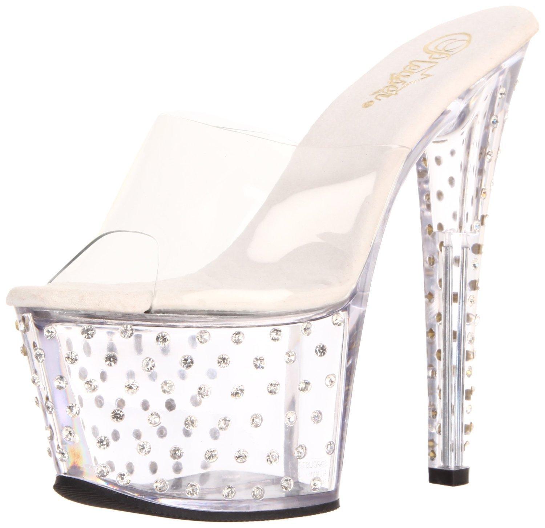 Pleaser STARDUST-701 Women Sandal B00HV9ULHU 11 B(M) US|Clear/Clear