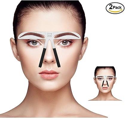 AILIFE - Regla de cejas para maquillaje (2 unidades), regla ...