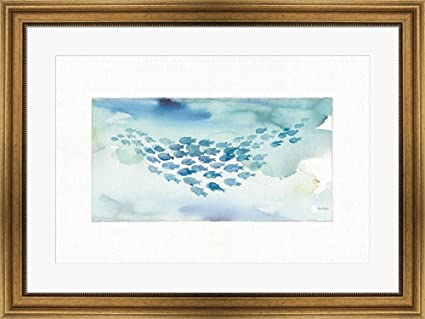 Amazon.com: Great Art Now Sea Life I by Lisa Audit Framed Art Print ...