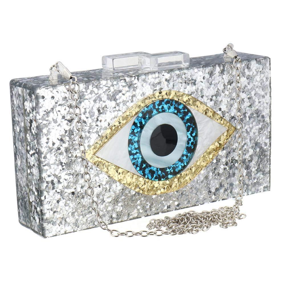Evening clutch Glitter Acrylic Evening bag Perspex bag Handbags purse for women
