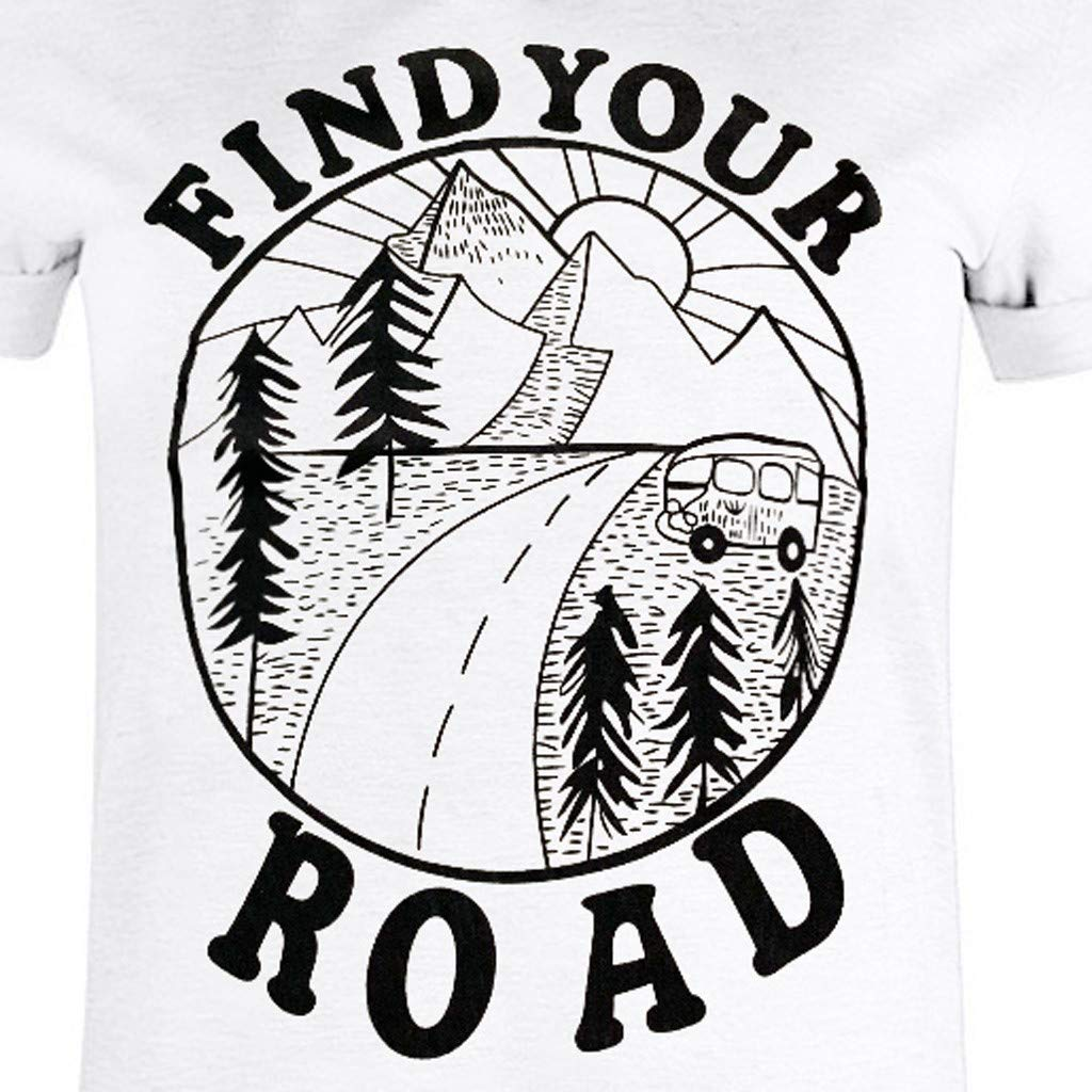 T-Shirt for Women Graphic Tees with Sayings Plus Size Hosamtel Short Sleeve Casual Shirts Blouse for Womens Girls Clearance