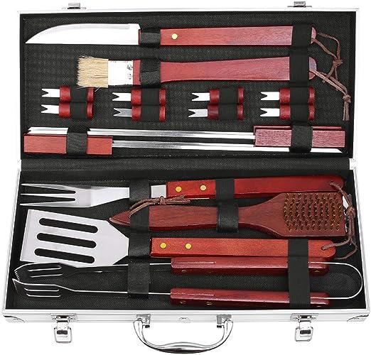 2 X Large en Bois Handled Main Fil D/'Acier Brosse Set barbecue enlever la rouille peinture