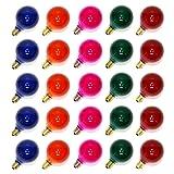 25PC G40 Bulbs Frosted Multi-Color Globe Bulbs