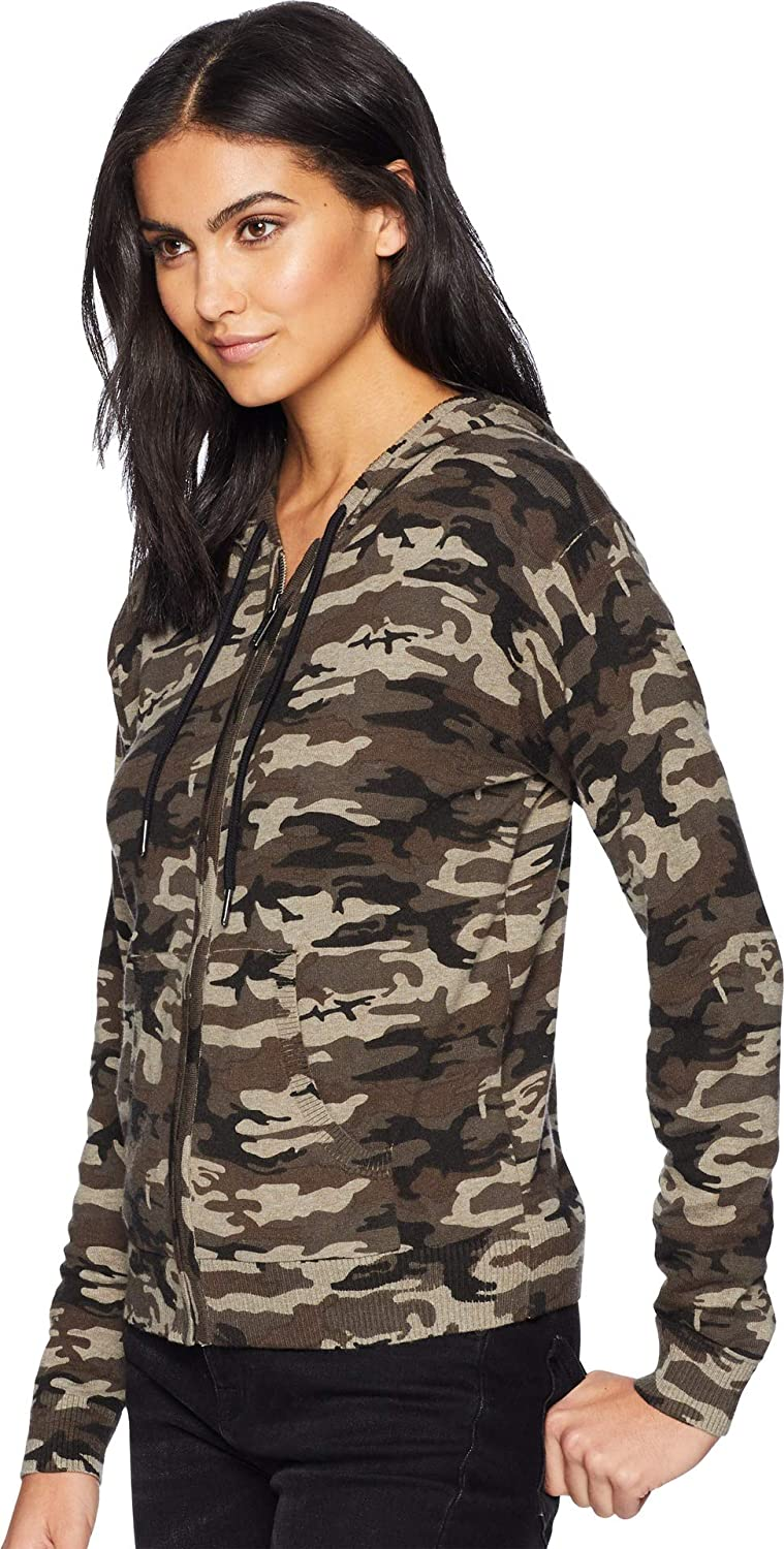8f8575a38bf44 Amazon.com: Sanctuary Women's Zip Me Up Hoodie Sweater Human Nature Camo  X-Small: Clothing