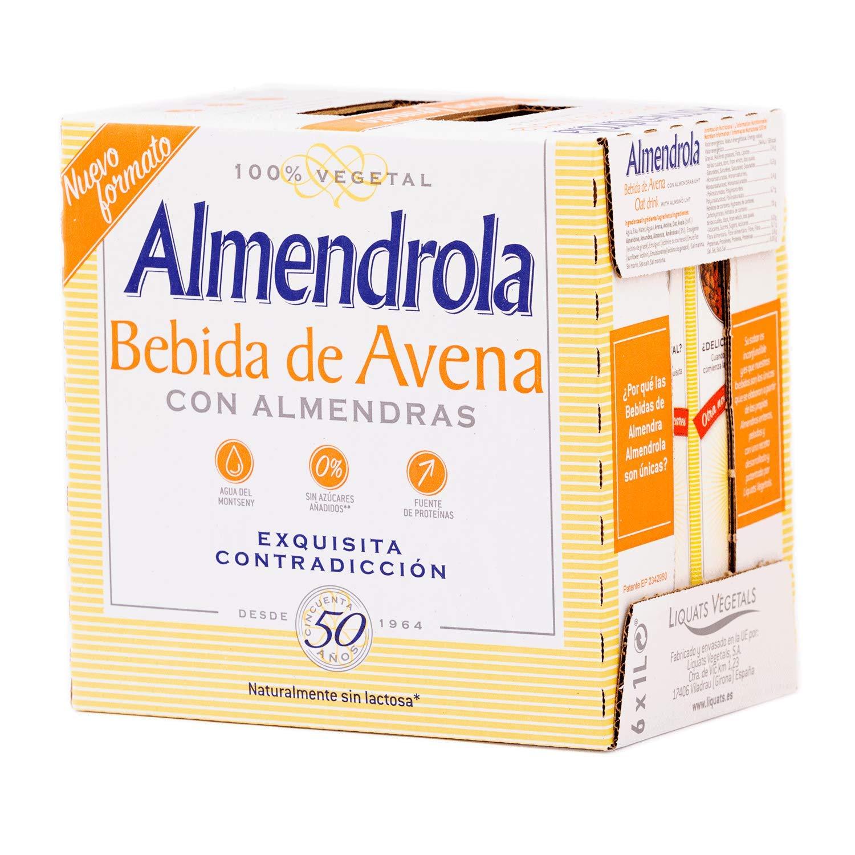 Almendrola Bebida Vegetal de Avena con Almendras - Paquete de 6 x 1000 ml - Total: 6000 ml: Amazon.es: Alimentación y bebidas